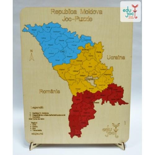 Puzzle Harta R Moldova Cu Raioane